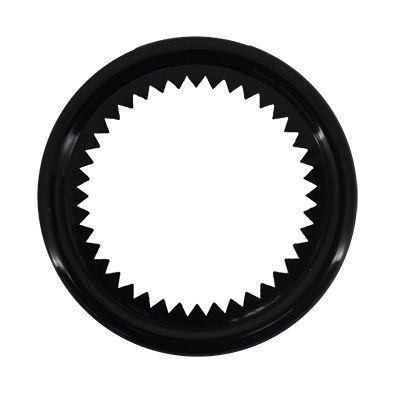 Arandela diámetro 25 mm negra